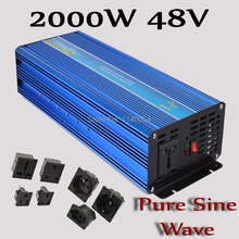 2000W Off Grid Inverter 48VDC to 110V or 230VAC Pure Sine Wave Output, 4000W Surge Power, 100%  Quality Certification