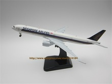 19cm Alloy Plane Model Air Singapore Airlines B777-300ER Aircraft Boeing 777 Airways Airplane Model w Stand Wheels
