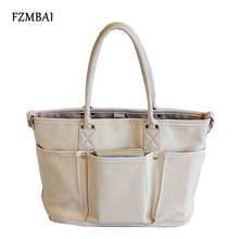 FZMBAI Trendy Women's Leisure Utility Tote Bags Ladies Canvas Single Shoulder Bags(China)
