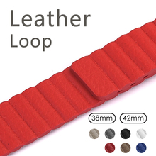 Genuine Leather Loop Band Apple Watch Band 42mm 38mm Strap Bracelet iWatch Series 1/2/3 Adjustable Magnetic Closure Belt