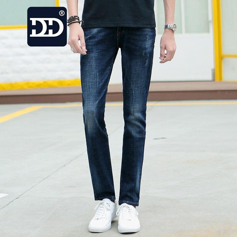 Dingdi Jeans Famous Brand Mens Jeans  Elasticity Deep Blue Jeans Mens  Mens Straight Pants Trousers Autumn Jeans Boy Fashion Îäåæäà è àêñåññóàðû<br><br>