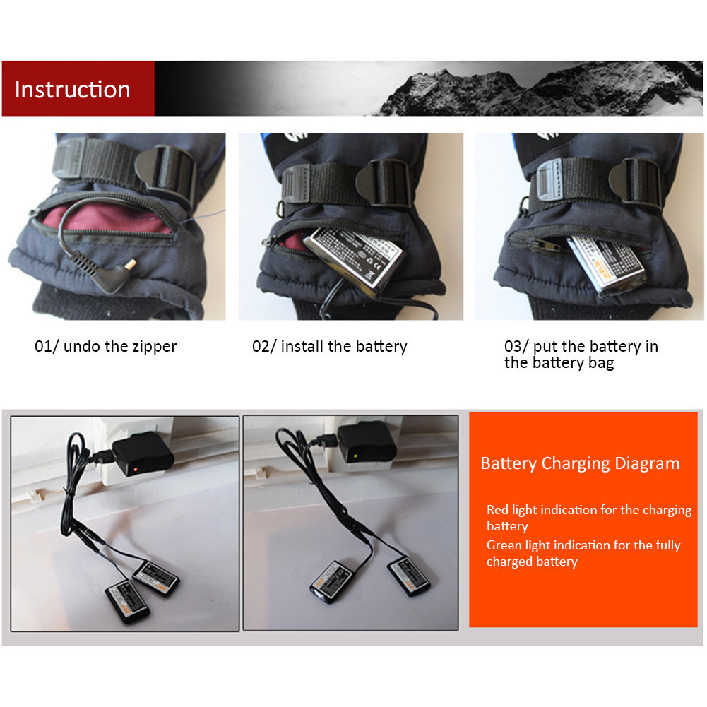 Bag - Winter USB Hand Warmer Electric Thermal Gloves Motorcycle Cycling Ski Gloves