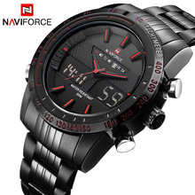 NAVIFORCE Watches Quartz Digital Sport Men's Fashion Luxury Brand Analog-Clock Man Relogio Masculino