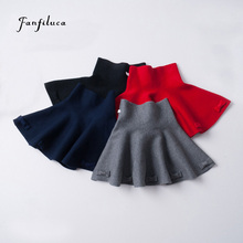 Fanfiluca Bow Girls Skirts Solid Children Tutu Skirts High Elastic Waist Kids Skirt Casual Candy 4 Colors Students Skirt