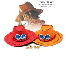 One Piece Hat Anime One Piece Portgas D Ace Hat sun Cap Cosplay hat Free Shipping 3Pcs/Lot