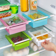 Slide Fridge Storage Rake Freezer Food Storage Boxes Pantry Storage Organizer Bins Container Space-saving Fridge Storage Box(China)