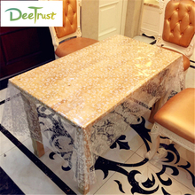 White Rattan Transparency Table Cloth PVC Waterproof tablecloth No-clean Oilproof Dining Table Dust Cover For Party Home Decor(China)