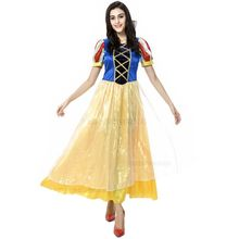 Adult snow white halloween costume women period costumes gowns vestidos medievais sissy dress roupas princess dress adults(China)