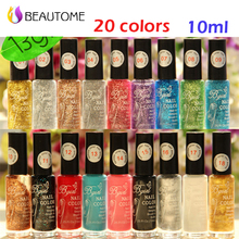 Stamp polish 1 Bottle/LOT Nail Polish & stamp polish nail art pen 20 colors Optional 10ml More engaging 4 Seasons hot sell .!