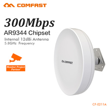 COMFAST 5.8Ghz outdoor wifi bridge 300mbps long range 1-3km CPE for IP camera monitoring project wifi router outdoor AP CF-E211A