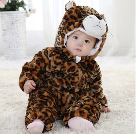 Baby winter leopard Romper outerwear toddlers winter thickening Romper leopard print clothes free shipping<br><br>Aliexpress