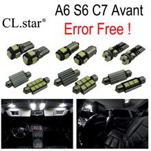 19pcs canbus error free Reading LED bulb interior dome light kit package for Audi A6 S6 RS6 C7 Avant Wagon (2012+)(China)