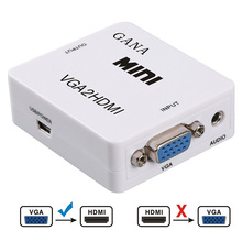New Hot VGA2HDMI Mini VGA to HDMI Converter with 1080P Audio Adapter Connector for Notebook PC for HDTV Projector(China)
