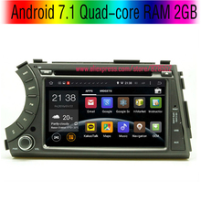 Android 7.1 Quad-core RAM 2G Car DVD Player For Ssangyong Actyon Kyron support 3G/WIFI GPS Navigation Radio Bluetooth IPOD Audio