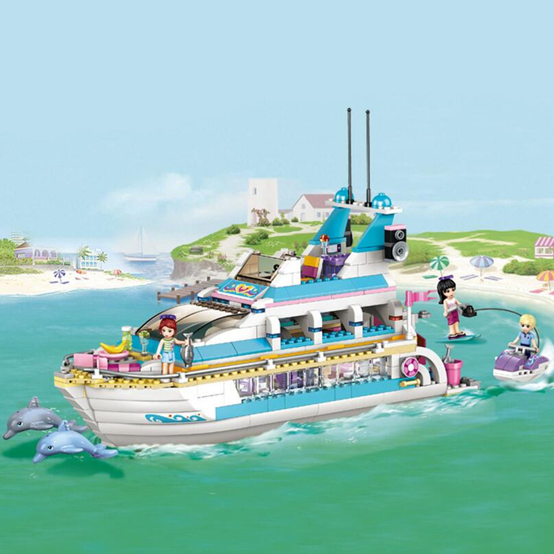 2016 Bela 10172 Friends Series Girls Large Cruise Ships Model  Building Block Girl Summer Toys Compatible With gift<br><br>Aliexpress
