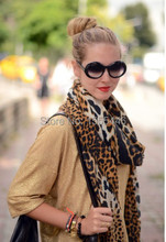 2015 Fashion Spring Leopard Print Luxury Cotton Hijab Europe Brand Sexy Ladies Pashmina Shawl Scrafs For Womens Free Shipping