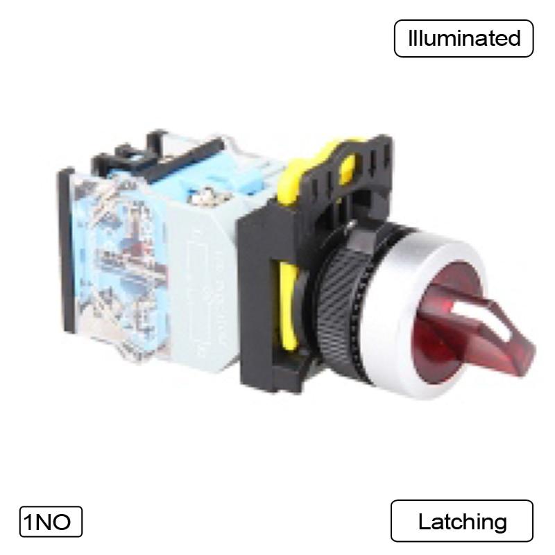 5 PCS Push button switch Selector switch Short handle LED Momentary Waterproof IP65  1NO 1NC 1N0+1NC 2NO 2NC  LA115-B5-11XD-R31<br>