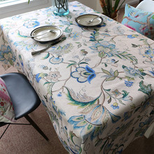 Wholesale EuropeanTea Table Cover classical style Oil Cloth Tablecloths country Tablecloths Creative Cotton Linen Table Cloth
