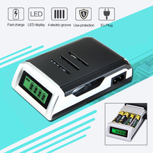 Zeepin C905W 4 Slots LCD Display Smart Intelligent Battery Charger for AA / AAA NiCd NiMh Rechargeable Batteries EU Plug