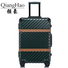 4 Size Vintage Travel Suitcase Rolling Luggage Leather Decoration Koffer Trolley TSA Lock Suitcases on wheels Rolling Luggage(China)