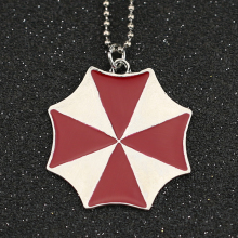 Biohazard Resident Evil Necklace Fashion Umbrella Corporation Enamel Pendant Logo Jewelry For Men And Women Wholesale
