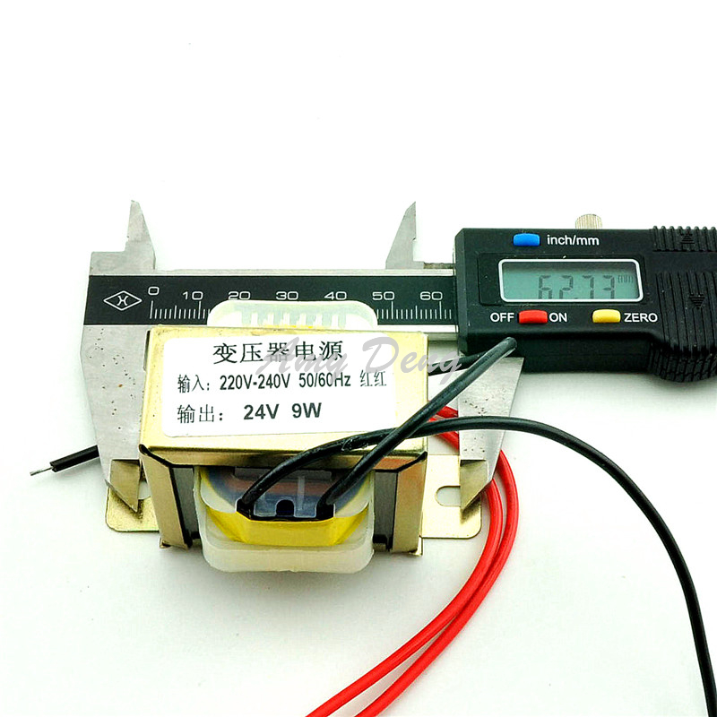 Free shipping 9W single 24V power transformer input / output: 220V 50Hz: 24V(China (Mainland))