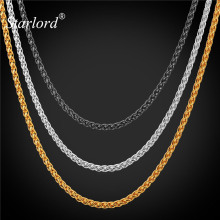 Starlord Chain necklace For Men Jewelry 18''/22''/26''/28''/30'' 3MM Black Gun/Gold Color Stainless Steel DIY Chains GN897