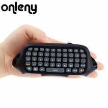 2017 Newest Mini Keyboard Wireless Controller Text Messenger Keyboard 47 keys Chatpad Keypad for Xbox 360 Game Controller Black(China)