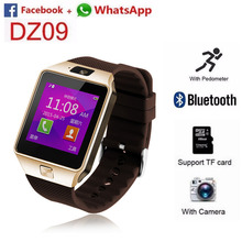 Bluetooth Smart Watch DZ09 Smartwatch GSM SIM Card With Camera for Android IOS Phones (Gold)