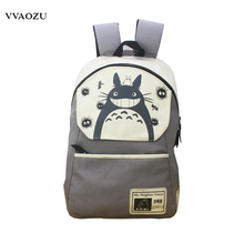 Fashion Anime Totoro Backpack My Neighbor Totoro Cartoon Canvas Mochila School Notebook Travel Shoulder Bag Schoolbags(China)