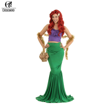 ROLECOS Classic Animated Movie The Little Mermaid Cosplay Costumes Princess Ariel Cosplay Set Mother Daughter Halloween Costuems