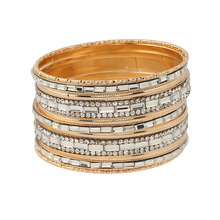 2017 Bohemia Electroplating Gold Bangles Vintage Retro Handmade Mixed Resin Acrylic Big Wristband Bracelet Party Jewelry
