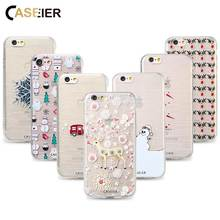 CASEIER Winter Series Phone Case For iPhone 7 8 Plus Soft TPU Ultra Thin Christmas Case For iPhone 6 6s Plus Pattern Capinhas