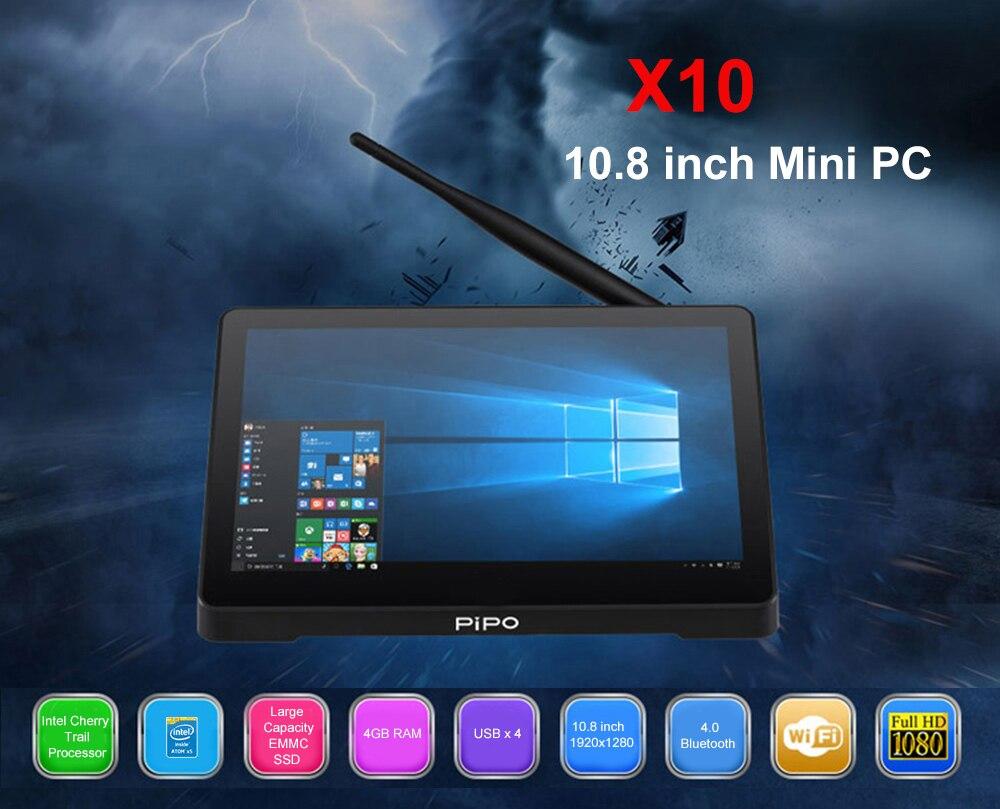 PIPO X10 Intel Cherry Trail Z8350 4GB DDR3L + 32GB ROM Mini PC Support Windows 10 2.4G WiFi 100Mbps BT4.0