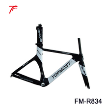 Full carbon bicycle frame 54cm tt frame with topmost logo painting time trial carbon frame FM-R834
