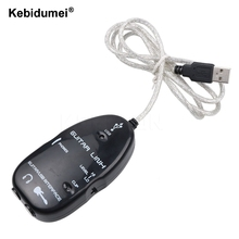 Kebidumei Hot sale Electric Guitar Link USB Audio Cable Interface Guitarlink Lead to Computer For MAC PC MP3 Recording XP(China)