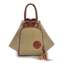 Fashion Backpack Women Canvas Shoulder Bags For Women Diagonal Portable Multi-functional Backpack Female Bags Tassel