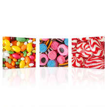 Wall Art 3 Panels Candy Store Decor Canvas Print Sweet Candies Wall Picture for Children's Room(China)