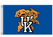 University of Kentucky Wildcats Flag 3X5FT 90x150cm 100% Polyester free shipping NCAA banner Flying Size No.4 150* 90cm(China)