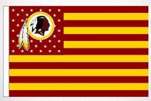 3x5ft American NFL football team flag pennants Washington Redskins 100D polyester high quality free shipping