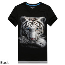 2016 summer Brand Clothing Men's animal T-Shirt tiger/Skull/gas monkey 3D Printed T-Shirts Men Funny Heavy metal Punk tee shirt