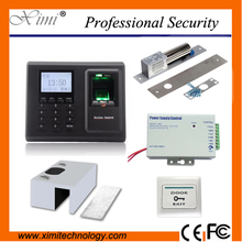 Hot sale fingerprint access control F2, power supply,touch exit button and electric lock, bracket biometric access control kit