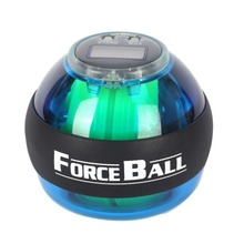 Gyro Power Ball Wrist Arm Exercise Strengthener LED Force Ball with Speed Meter Counter 12000 RPMS Gyroscope Power Ball