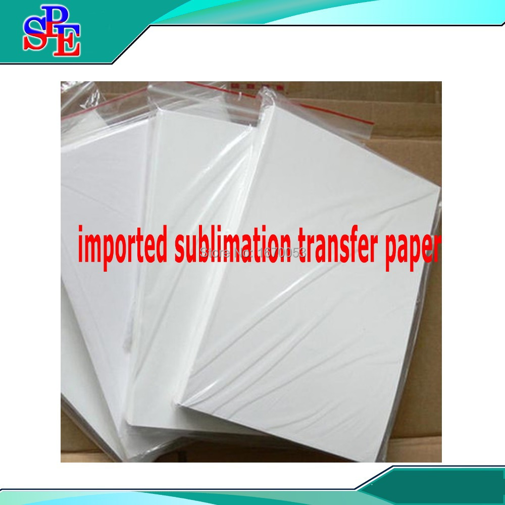 One Box 100 Sheets A4 Dye Sublimation Transfer Paper Heat Press Printing Puzzle Mugs(China (Mainland))