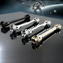 8 IN 1 Socket Wrench Household Wrench Spanner Key Multi Tool Hand Tools 12-19/8-21mm Without Magnetism ALI88