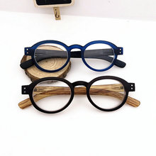 Reading Glasses Classic Retro Vintage Style Oval Eyewears Men and Women Spring Hinge Plastic Clear Eyeglasses Diopter GlassesLXL(China)