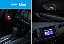 BLUE 2017 New Car-Styling 5M Car Interior Decoration Trim Strips Stickers For kia rio ford fiesta peugeot 207 honda crv mazda 6(China)