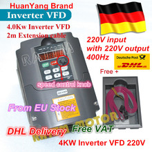 From Germany /free shipping Real Special Offer 4KW Variable Frequency Drive VFD Inverter 4HP-18A VSD speed control(China)