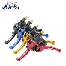 Sclmotos Universal CNC Aluminum F3 Series Short Clutch Brake Folding Lever Fit Most Motorcycle ATV Dirt Pit Bike Spare Parts(China)