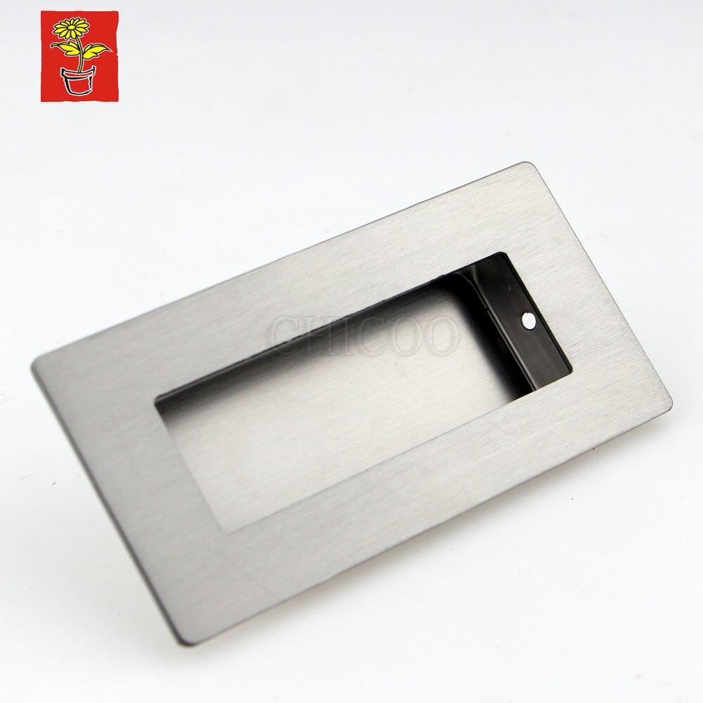 Stainless Steel Square Drawer Pulls Cabinet Kitchen Handles For Cabinets Decorative Furniture Hardware Dresser Flush Pulls<br><br>Aliexpress